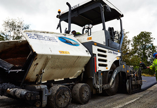 First Cold re-pave scheme in the UK A1