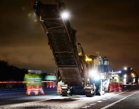 Road Surface Re-Texturing Scheme completed on A46